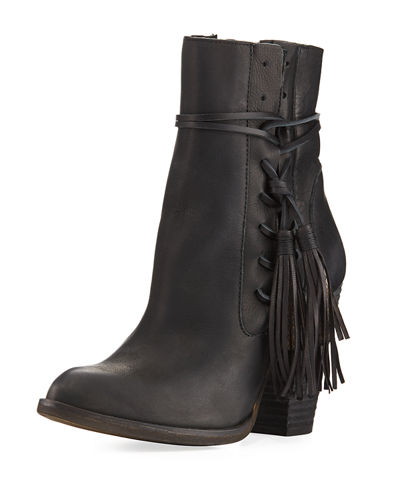 Yani Distressed Tassel Bootie