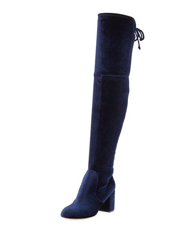 Owen Stretch-Velvet Over-The-Knee Boot