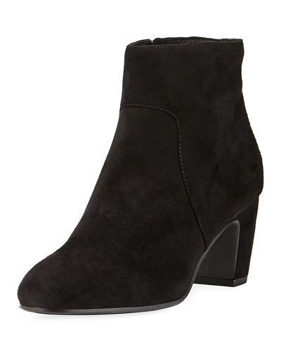 Piper Mid-Heel Suede Ankle Boot