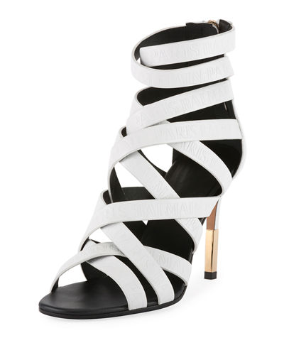 Balmain Charlotte Strappy Leather Sandals