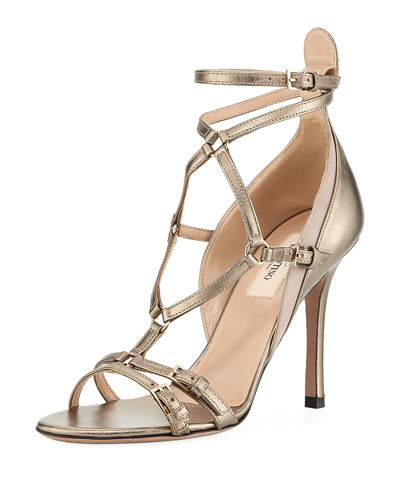 Metallic High Leather Pump