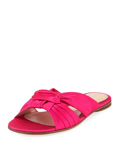 Satin Bow Knot Slide Sandals