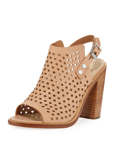 Wyatt Perforated High-Heel City Sandal