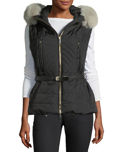 Apres-Ski Vest w/Fox-Fur Trim