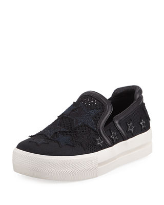 Jeday Knit Skate Sneakers With Stars by Ash