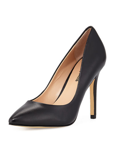 Prestige Leather Pointed-Toe Pump