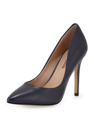 Prestige Pointed-Toe Pump, Navy
