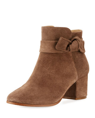 JOANIE SUEDE KNOTTED BOOTIE