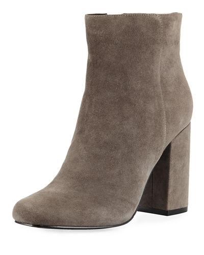 Studio Suede Side Zip Bootie