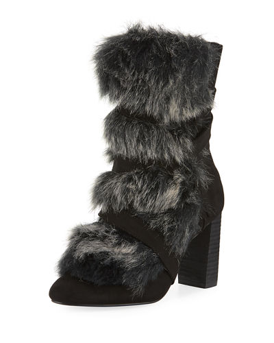 Charles by Charles David Alberta Furry Ankle Bootie