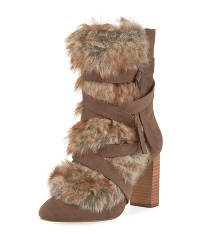 Alberta Furry Ankle Bootie