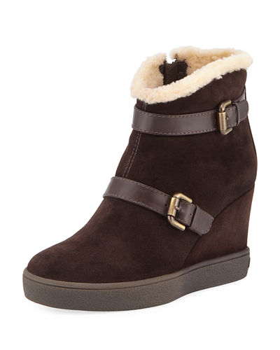 Christy Zip-Up Wedge Bootie