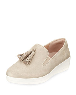 Tasseled Slip-On Skate Shoe in Frappe Shimmer