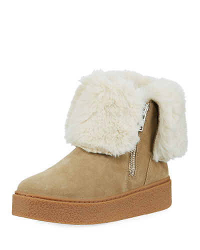 Brynn Sneaker Bootie with Faux-Fur Collar