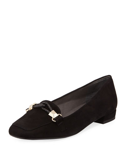 Stuart Weitzman Velvet Square-Toe Loafers cheap sale cost cheap price from china bvZuf