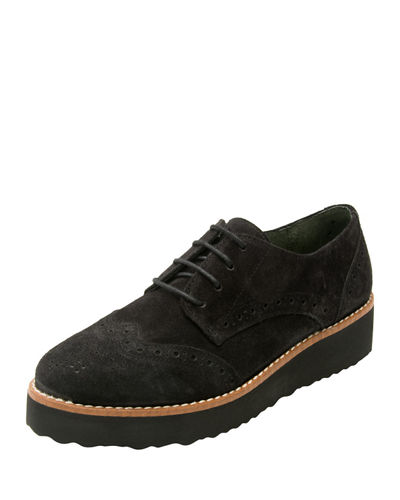 Andre Assous Tate Suede Platform Oxford