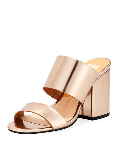 Elena Metallic Slide Dress Mule