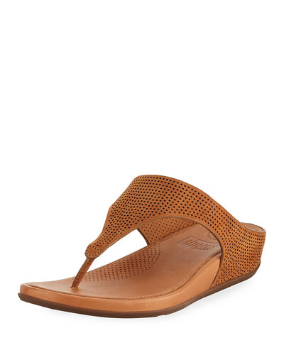 Banda Perforated Thong Sandal