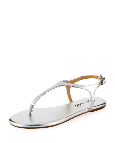 Mason Leather Flat Sandal