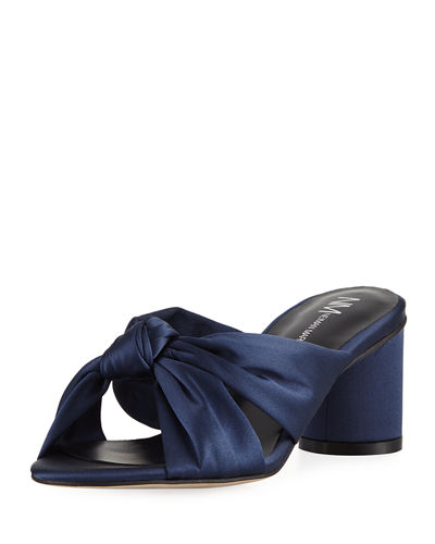 Michelle Satin Knotted Mule