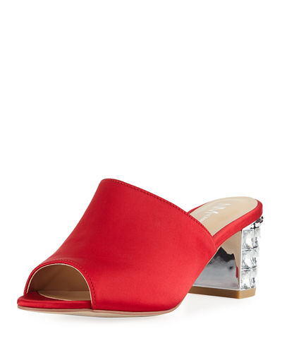 Carly Satin Slide Mule