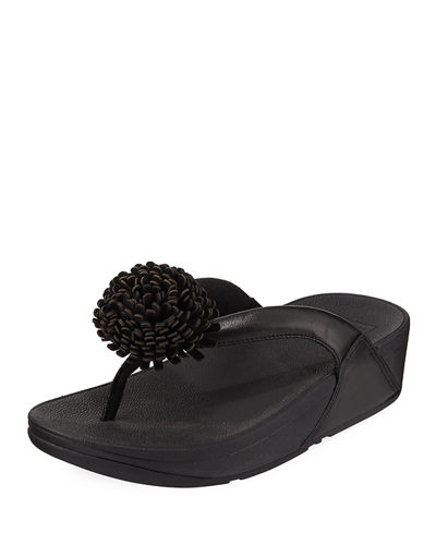 Flowerball Leather Thong Sandal
