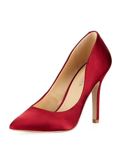 Maxx Satin Pointy-Toe Pump