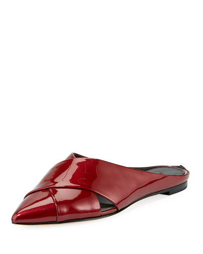 Sheldon Pointy-Toe Crisscross Mule