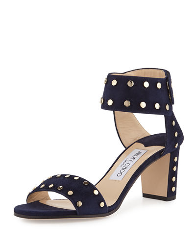 Clearance Store Cheap Price Clearance Best Store To Get Jimmy Choo Studded Suede Sandals Clearance Footlocker Finishline Qe6VZGxkTD