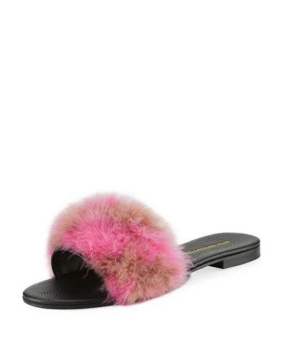 Avec Modération BORA BORA FEATHER FLAT SLIPPER SANDAL