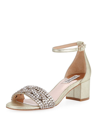 Triana Low Chunky-Heel Sandal