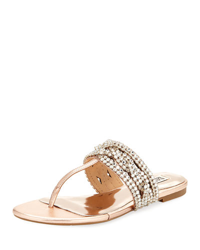 Badgley Mischka Trent Low Jeweled Sandal