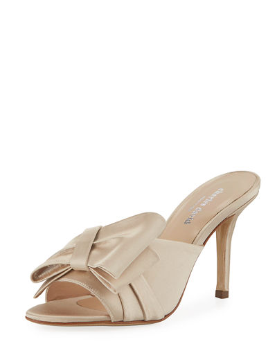Sasha Satin Mule Pump