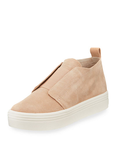 Tara Suede Mid-Top Sneakers