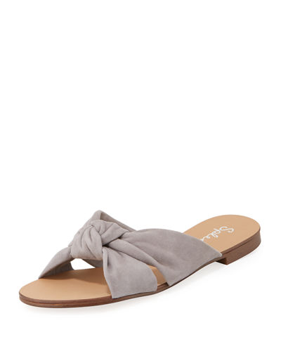 Brianna Knotted Low Slide Sandal