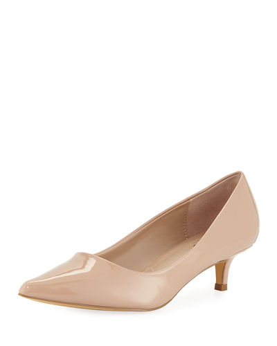 Dare Low-Heel Patent Leather Pump