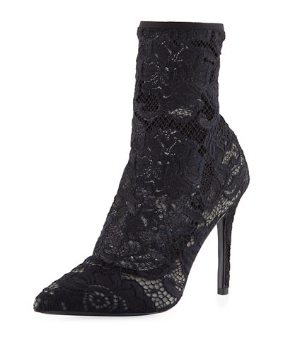 Player Floral Lace Bootie