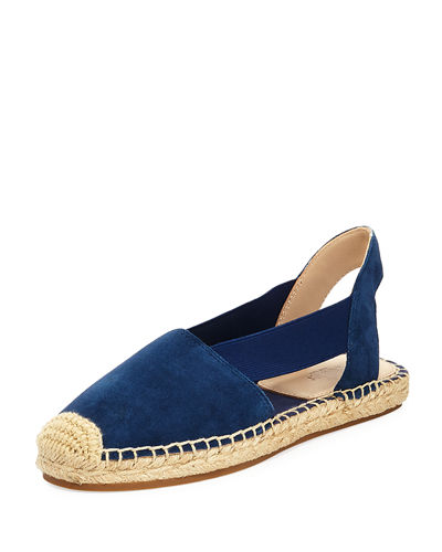 Henry Cutout Suede Slingback Espadrille