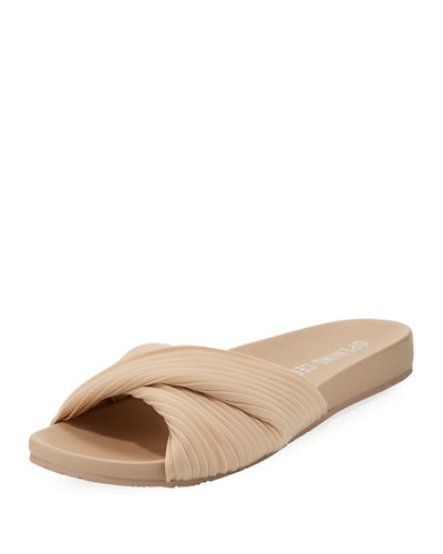 Paulyna Pleated Slide Sandal