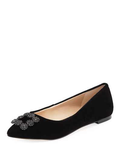 Theory Velvet Round-Toe Flats Sale Popular zkD054TbZ