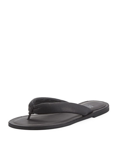 65d419eed5e Eileen Fisher Flue Flat Washed Leather Thong Sandals