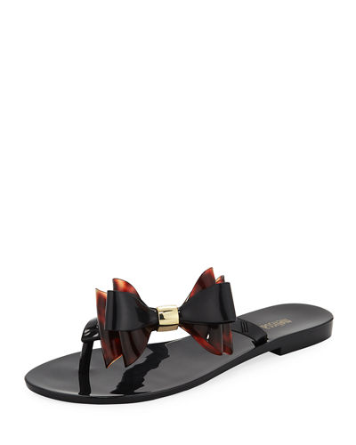 Melissa Shoes Harmonic Chrome Bow Slide Sandal