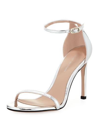 Nudistsong Metallic Ankle-Strap Sandal