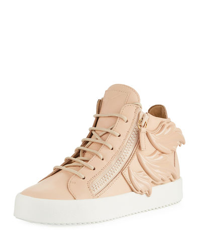 Giuseppe Zanotti Low-Top Wings Side-Zip Sneakers