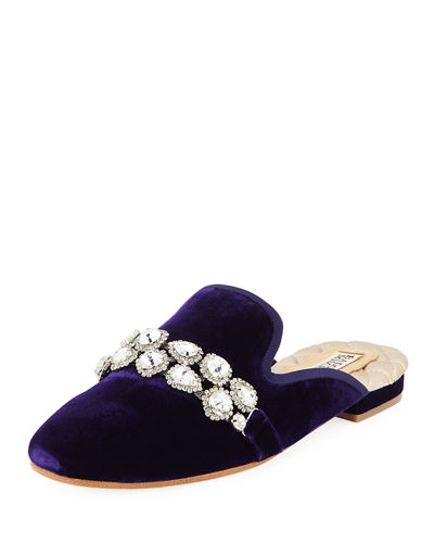 Badgley Mischka Wade Jeweled Velvet Mule
