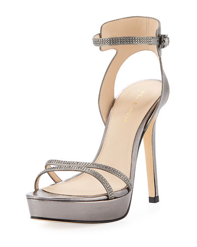 Oanel Metallic Napa Platform Evening Sandal