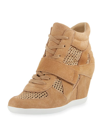 Bowie Mixed Mesh Wedge Sneaker