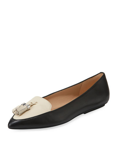 Vanna Leather/Suede Loafer Flat