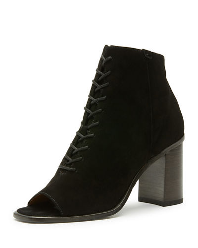 Amy Open-Toe Lace-Up Bootie