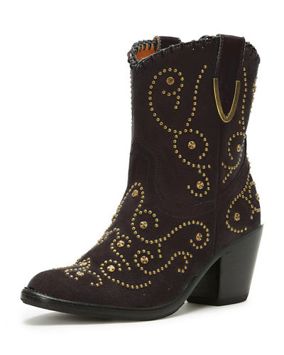 Victoria Studded Suede Boot